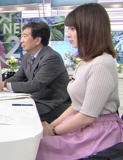 皆川玲奈アナ おっぱいが大きくなってる!?キャプ・エロ画像5