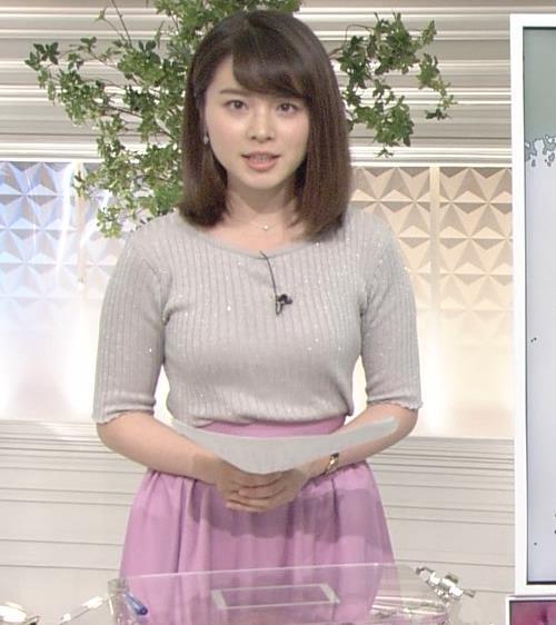 皆川玲奈アナ おっぱいが大きくなってる!?キャプ・エロ画像8