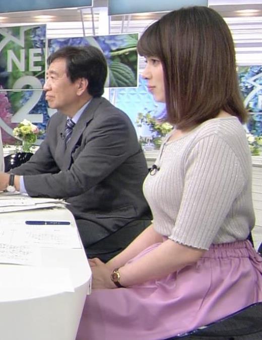 皆川玲奈アナ おっぱいが大きくなってる!?キャプ画像(エロ・アイコラ画像)