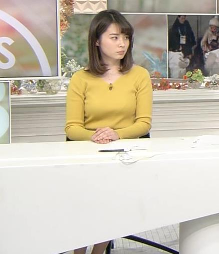 皆川玲奈アナ ニットおっぱい♡ブラが少し透けてる・キャプ・エロ画像5