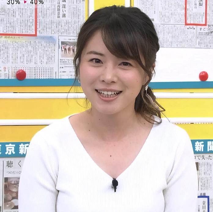 皆川玲奈アナ 朝からおっぱいがエロ過ぎキャプ・エロ画像3