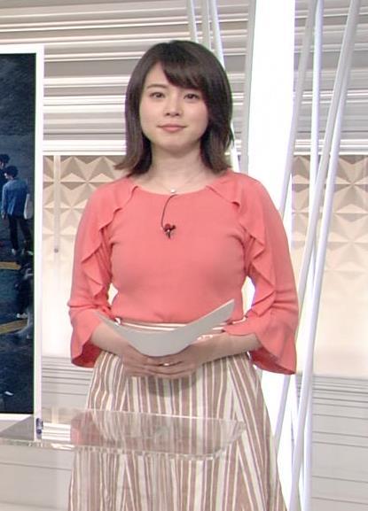 皆川玲奈アナ おっぱいがエロい服キャプ・エロ画像