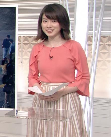皆川玲奈アナ おっぱいがエロい服キャプ・エロ画像2
