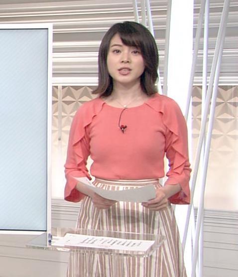 皆川玲奈アナ おっぱいがエロい服キャプ・エロ画像4