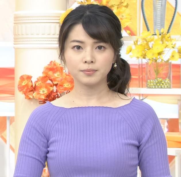 皆川玲奈アナ 早朝のニュース番組なのにエロ過ぎキャプ・エロ画像