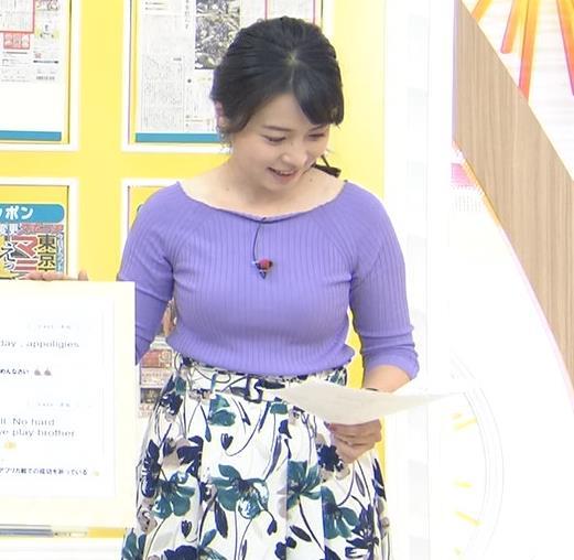 皆川玲奈アナ 早朝のニュース番組なのにエロ過ぎキャプ・エロ画像4