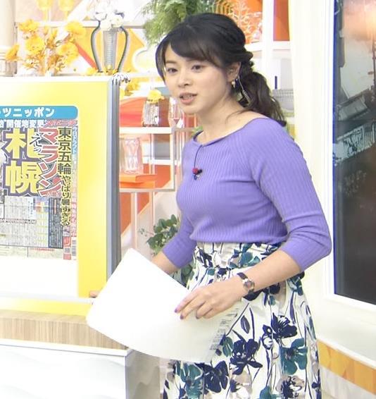 皆川玲奈アナ 早朝のニュース番組なのにエロ過ぎキャプ・エロ画像7