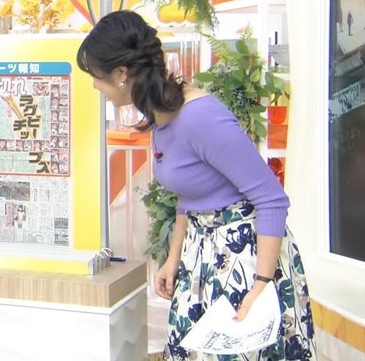 皆川玲奈アナ 早朝のニュース番組なのにエロ過ぎキャプ・エロ画像8
