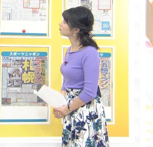 皆川玲奈アナ 早朝のニュース番組なのにエロ過ぎキャプ画像(エロ・アイコラ画像)