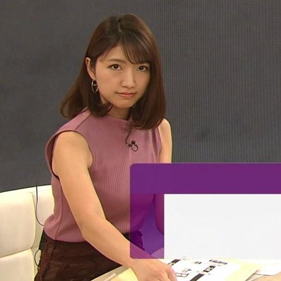 三田友梨佳アナ エロいニュース番組になってきたキャプ・エロ画像7