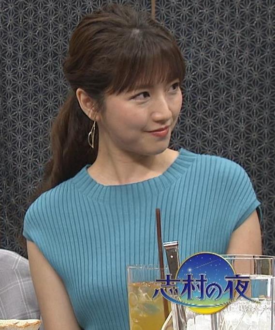三田友梨佳アナ ニット乳キャプ・エロ画像