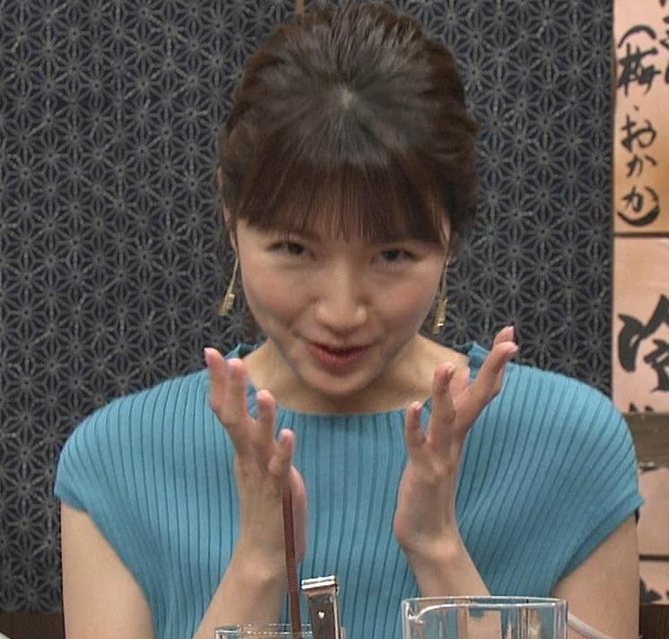 三田友梨佳アナ ニット乳キャプ・エロ画像3