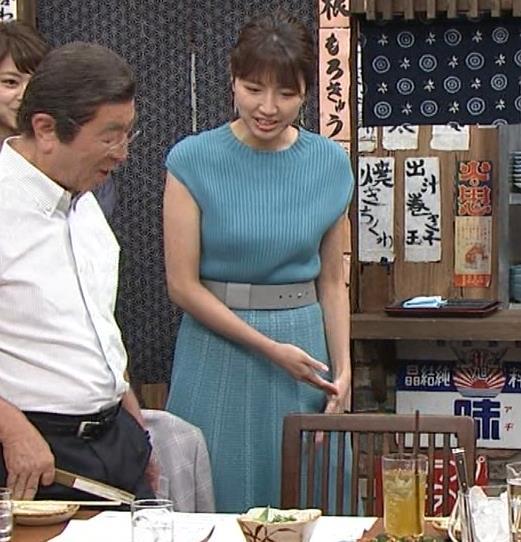 三田友梨佳アナ ニット乳キャプ・エロ画像5