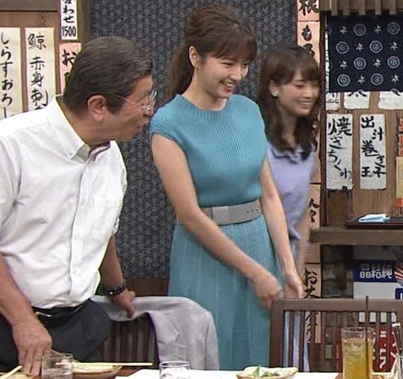 三田友梨佳アナ ニット乳キャプ・エロ画像7