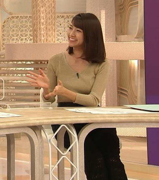 三田友梨佳アナ エッチなニットおっぱいキャプ・エロ画像7