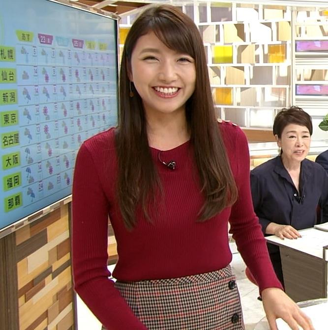 三田友梨佳アナ ぴったりニットキャプ・エロ画像3