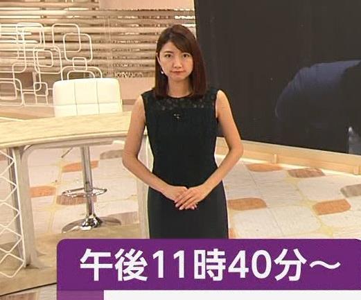 三田友梨佳アナ セクシーな夜のニュース番組キャプ・エロ画像