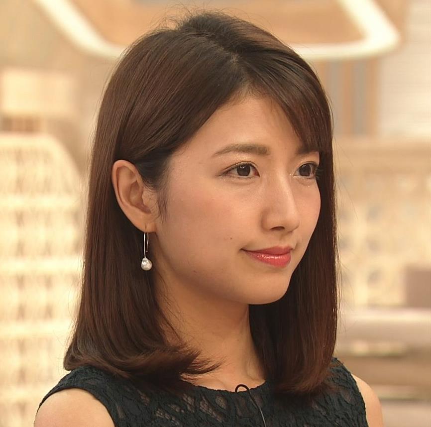 三田友梨佳アナ セクシーな夜のニュース番組キャプ・エロ画像2