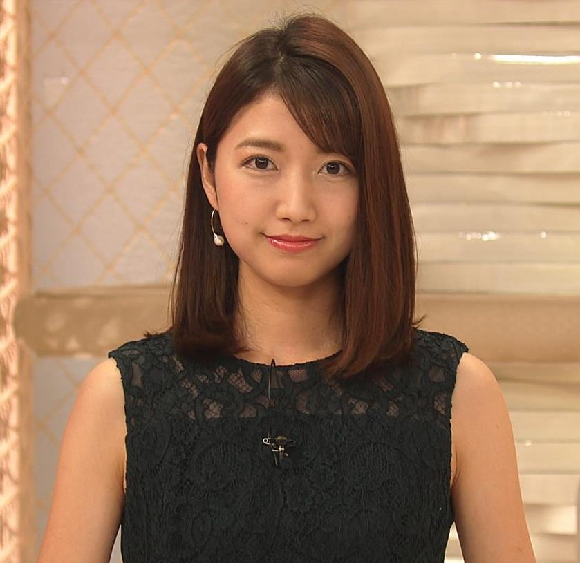 三田友梨佳アナ セクシーな夜のニュース番組キャプ・エロ画像3