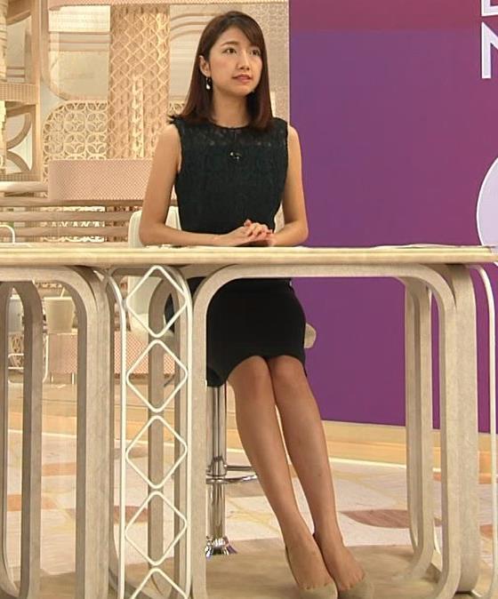 三田友梨佳アナ セクシーな夜のニュース番組キャプ・エロ画像4
