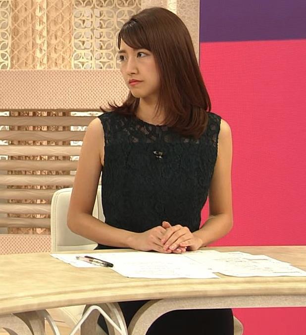 三田友梨佳アナ セクシーな夜のニュース番組キャプ・エロ画像5