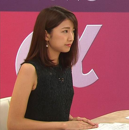 三田友梨佳アナ セクシーな夜のニュース番組キャプ・エロ画像6