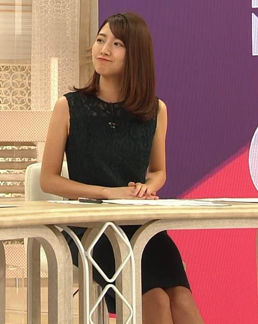 三田友梨佳アナ セクシーな夜のニュース番組キャプ・エロ画像8
