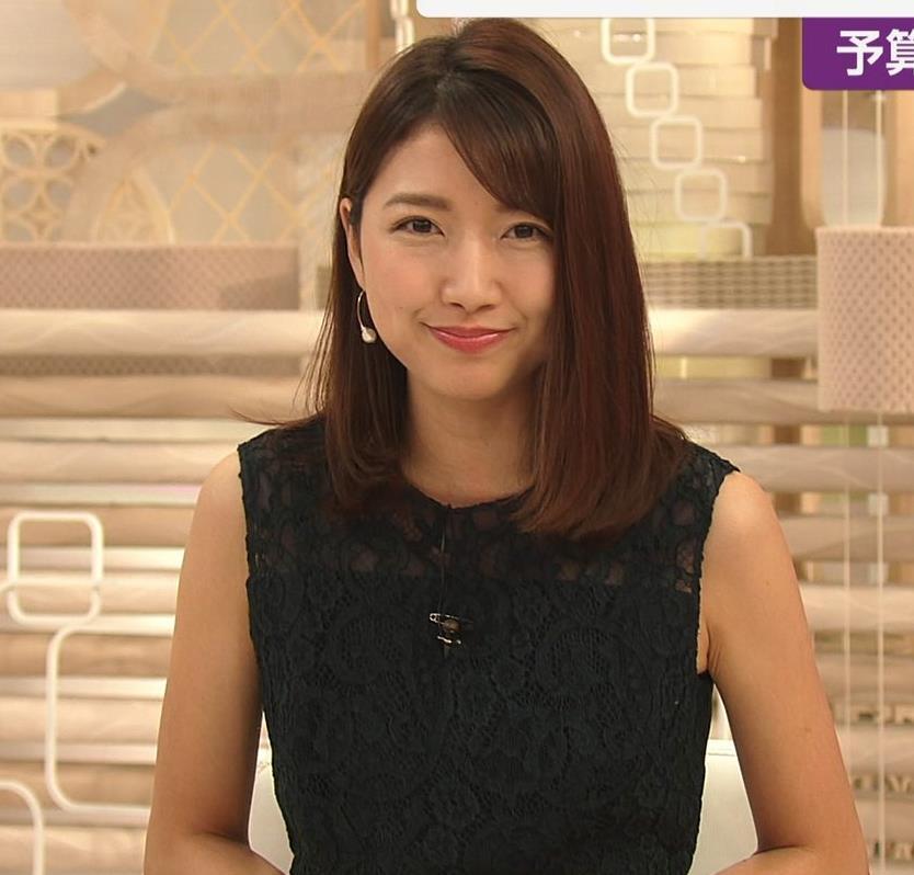 三田友梨佳アナ セクシーな夜のニュース番組キャプ・エロ画像9