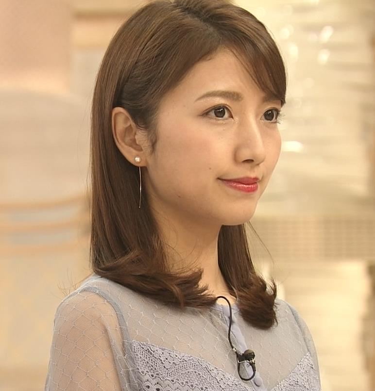 三田友梨佳アナ 透けてるキャプ・エロ画像