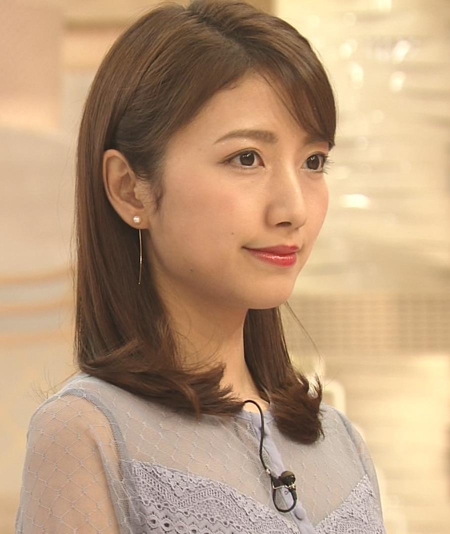 三田友梨佳アナ 透けてるキャプ・エロ画像3