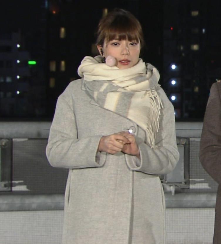 三谷紬アナ 超厚着なのか、太いのか…。キャプ・エロ画像2