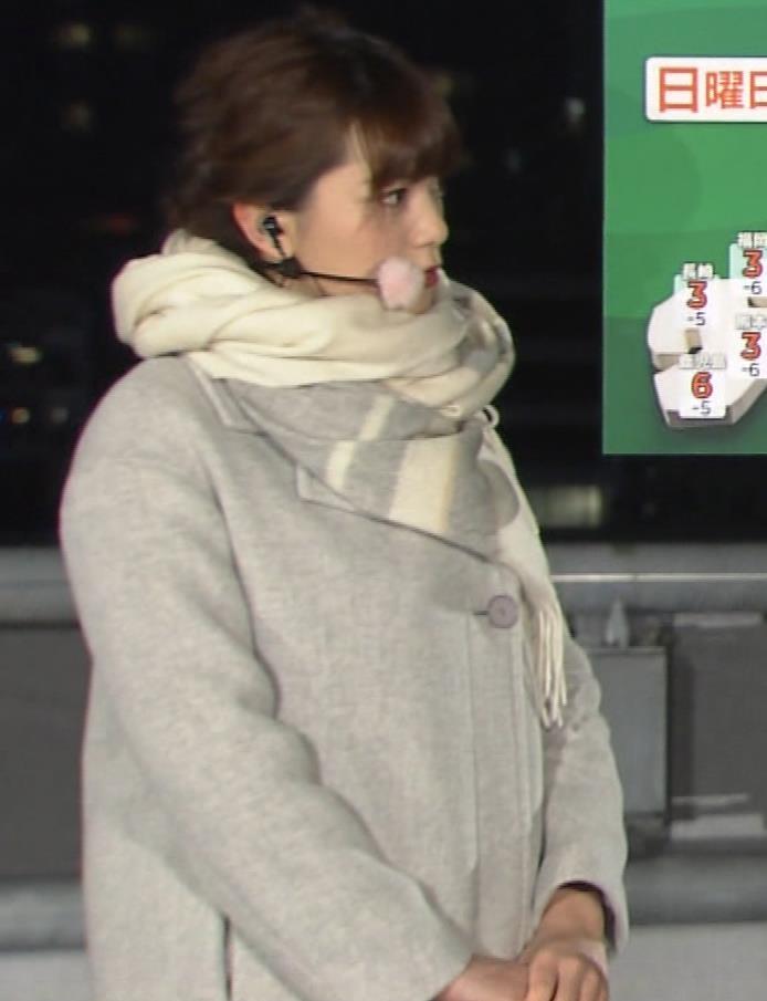 三谷紬アナ 超厚着なのか、太いのか…。キャプ・エロ画像5