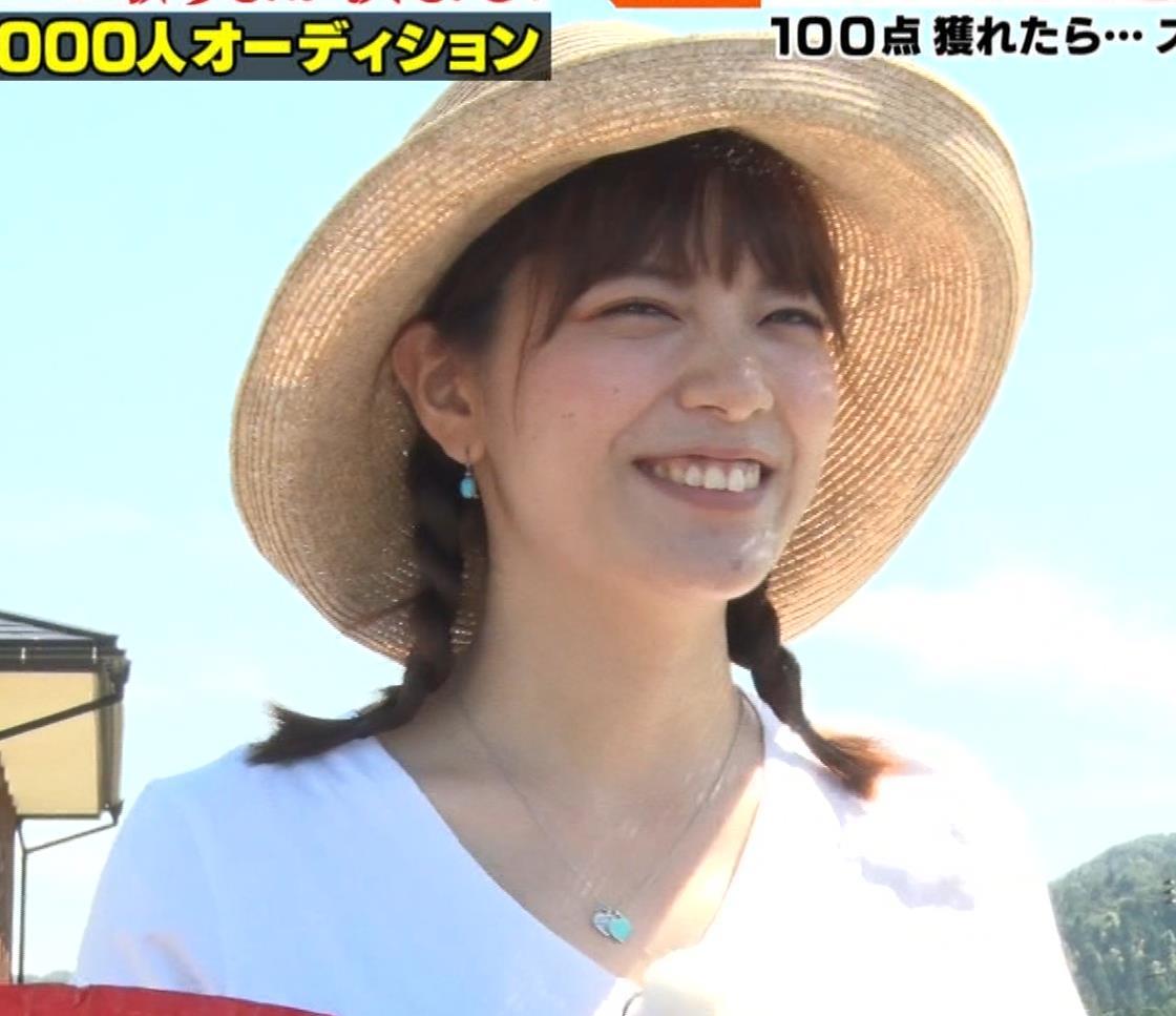 アナ 爆乳アナのエロエロTシャツ姿キャプ②キャプ・エロ画像