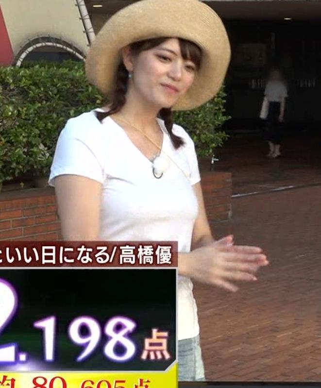アナ 爆乳アナのエロエロTシャツ姿キャプ②キャプ・エロ画像3