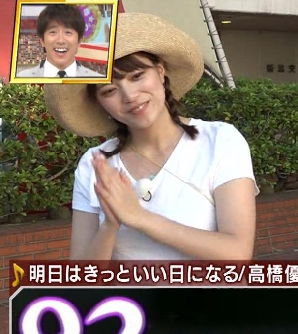 アナ 爆乳アナのエロエロTシャツ姿キャプ②キャプ・エロ画像4