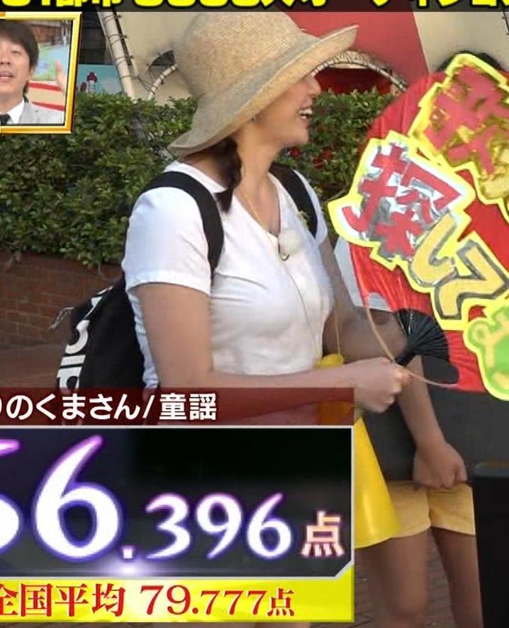 アナ 爆乳アナのエロエロTシャツ姿キャプ②キャプ・エロ画像7