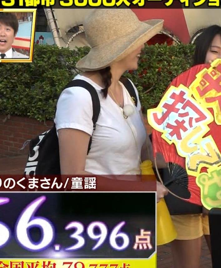 アナ 爆乳アナのエロエロTシャツ姿キャプ②キャプ・エロ画像8