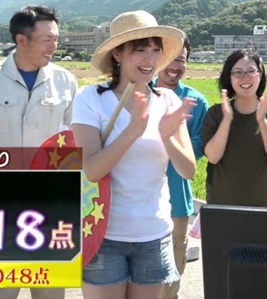 三谷紬アナ 爆乳アナのエロエロTシャツ姿キャプ②キャプ画像(エロ・アイコラ画像)