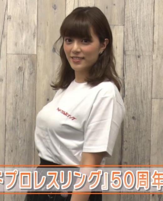三谷紬アナ 爆乳アナのTシャツ姿がすげぇキャプ画像(エロ・アイコラ画像)