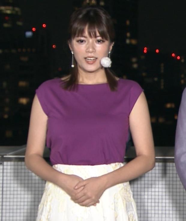 三谷紬アナ 顔テカテカ&乳デカデカキャプ・エロ画像