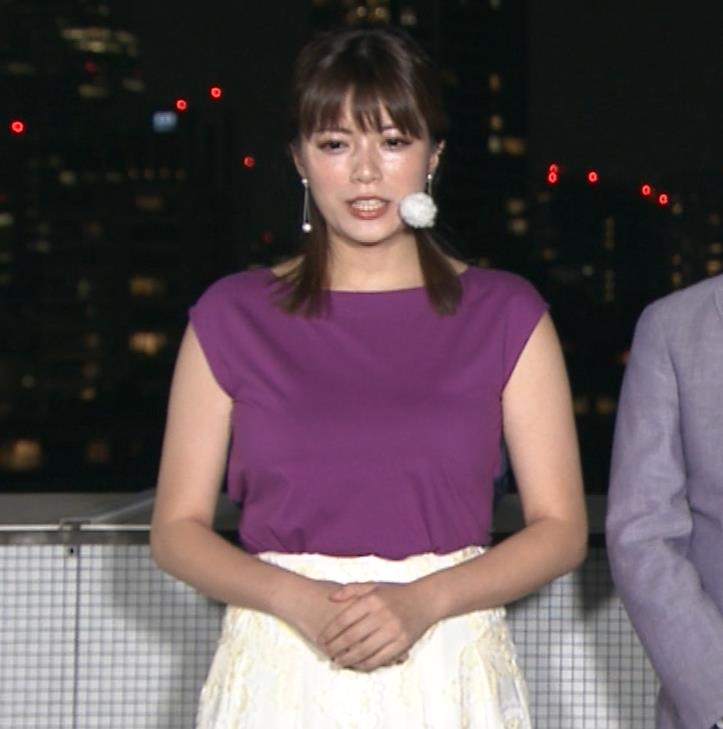 三谷紬アナ 顔テカテカ&乳デカデカキャプ・エロ画像3