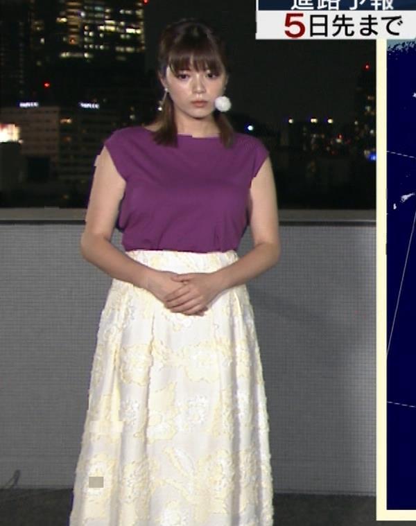 三谷紬アナ 顔テカテカ&乳デカデカキャプ・エロ画像6