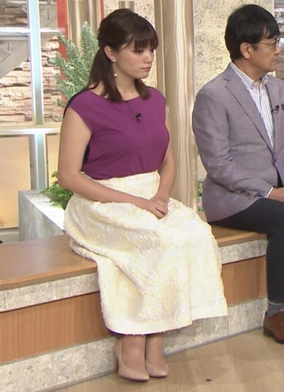 三谷紬アナ 顔テカテカ&乳デカデカキャプ・エロ画像9