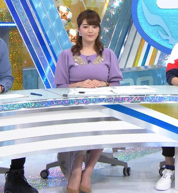 三谷紬アナ ボリューム満点おっぱいキャプ・エロ画像