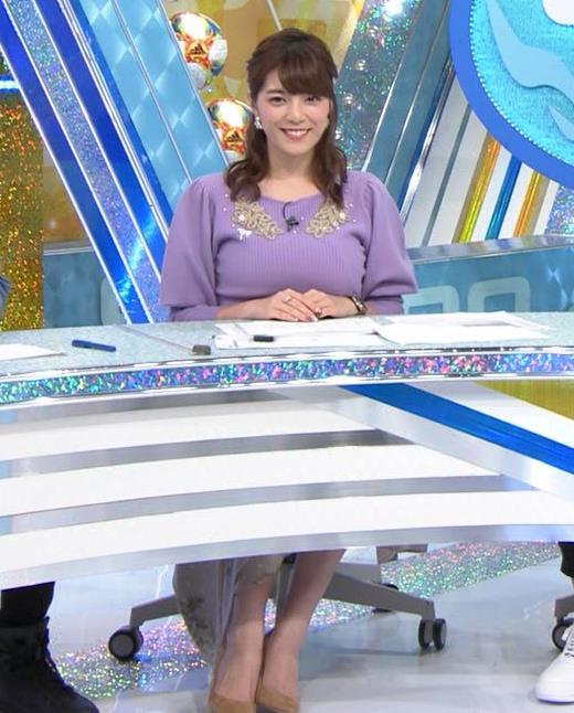 三谷紬アナ ボリューム満点おっぱいキャプ・エロ画像2