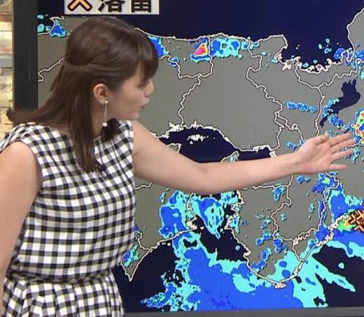 三谷紬アナ チェック柄だけど体のラインが出ないワンピースキャプ画像(エロ・アイコラ画像)