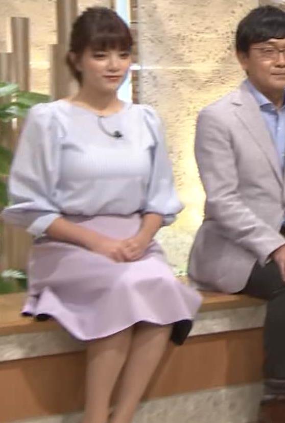 三谷紬アナ また爆乳が強調されてエロかったキャプ・エロ画像11