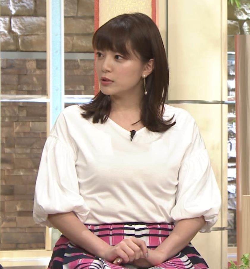 三谷紬アナ 乳がデカくて服がパツパツキャプ・エロ画像