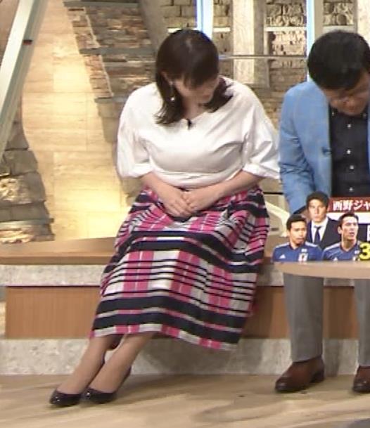 三谷紬アナ 乳がデカくて服がパツパツキャプ・エロ画像11