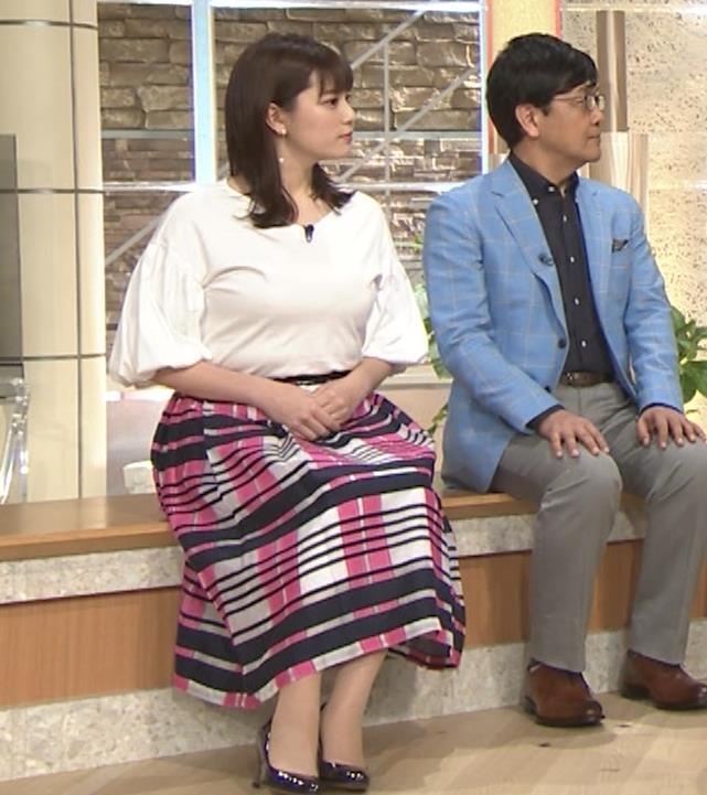 三谷紬アナ 乳がデカくて服がパツパツキャプ・エロ画像13